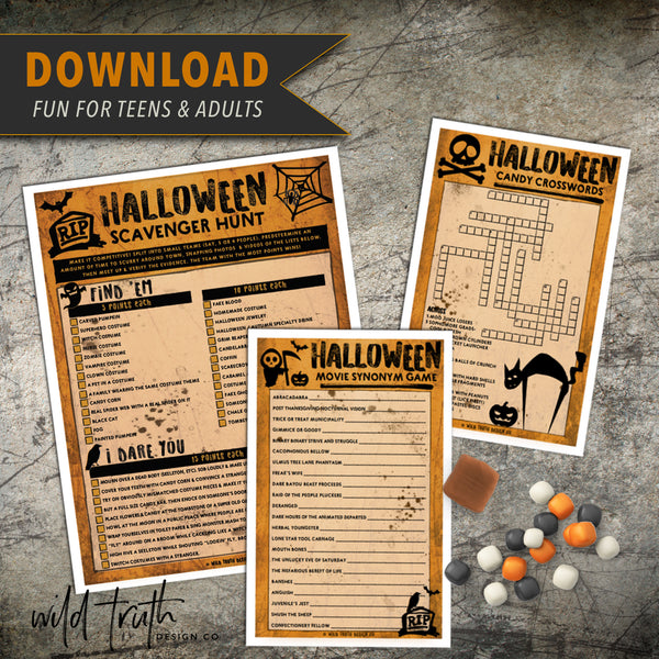 Halloween Party Game Bundle For Adults [Printable Download #H107]