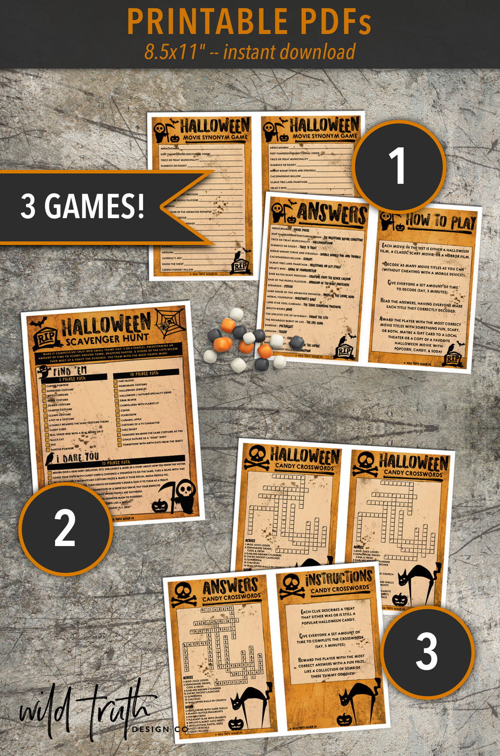 Halloween Party Game Bundle For Adults [Printable Download] – Wild ...
