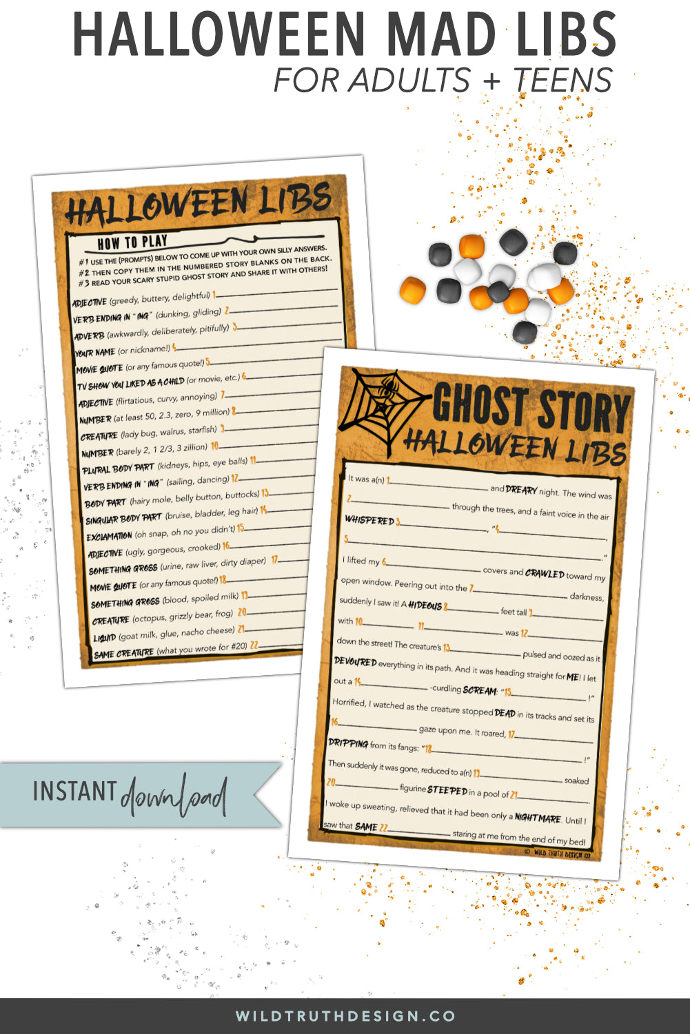 halloween mad libs high school teens