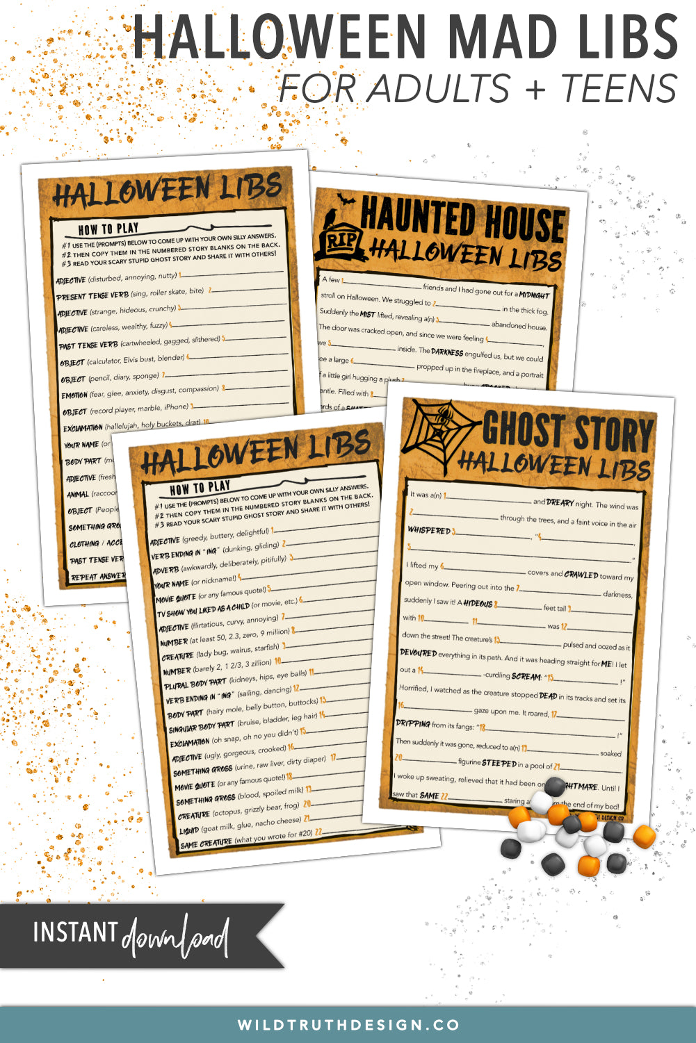 halloween mad libs for adults & teens