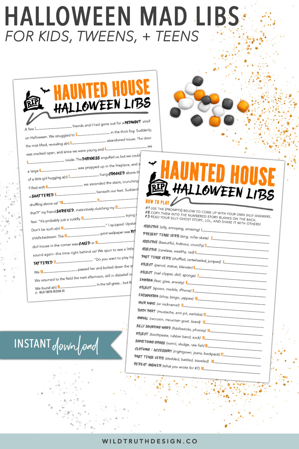 Spooky Halloween Mad Libs For Kids, Tweens, Teens