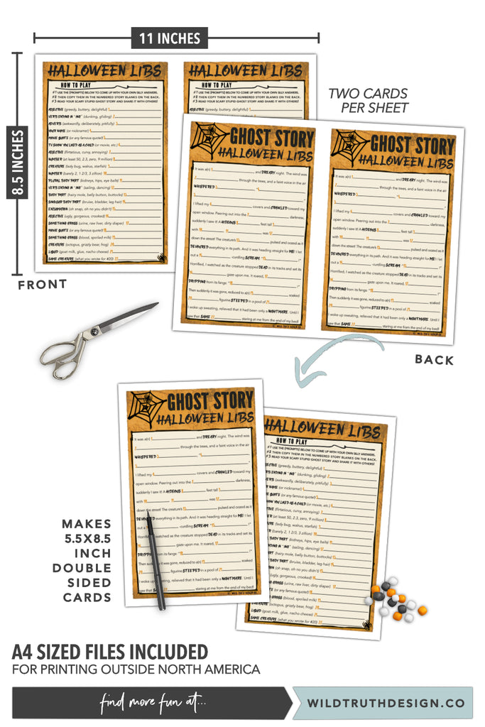 photo about Printable Mad Libs for Teens named Halloween Outrageous Libs - Substantial College or university Clroom Activity / Sport For Adolescents - Ghost Tale Printable [#H108] - Wild Real truth Layout Co
