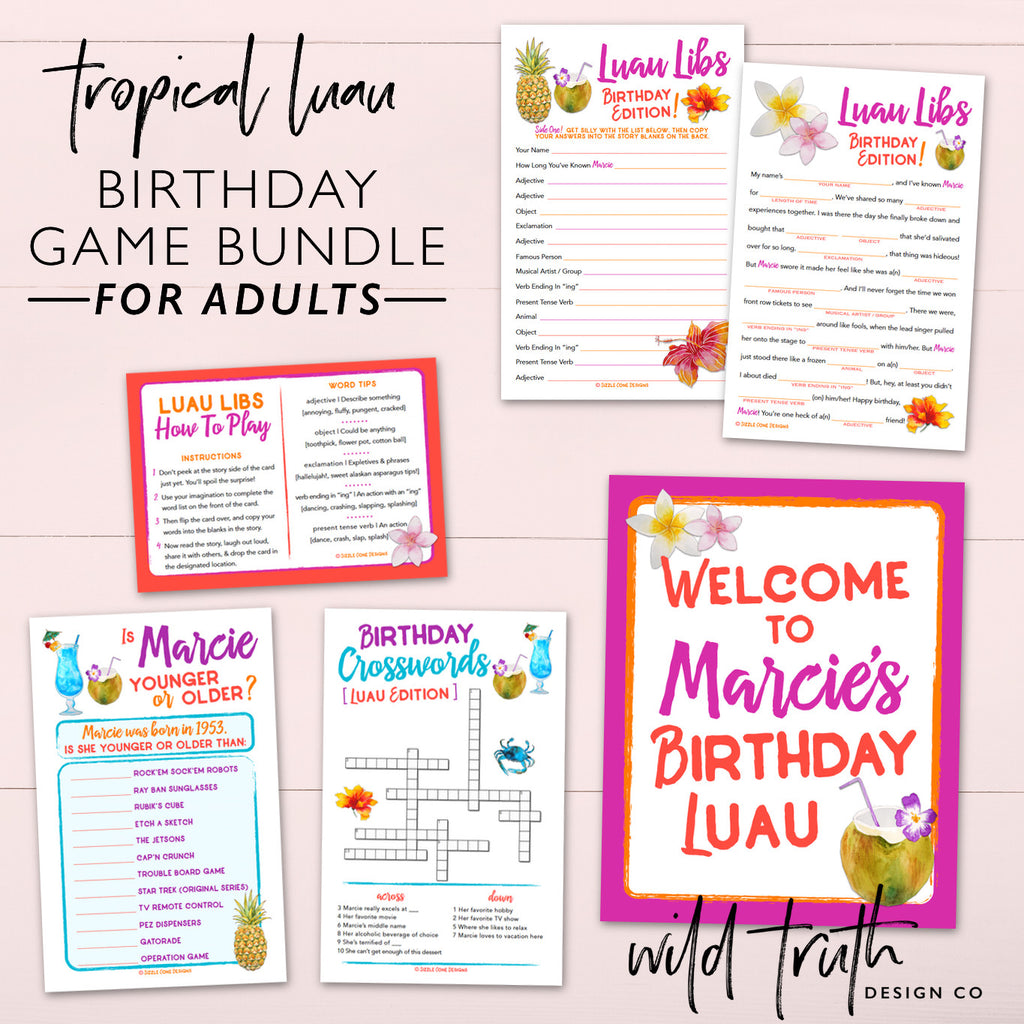 Tropical Themed Birthday Party Games For Adults