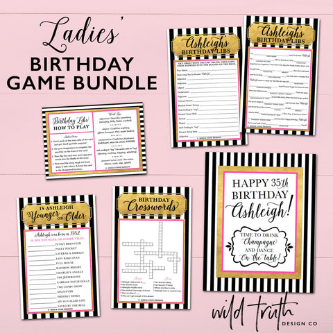 Kate Spade Inspired Birthday Party Games | Sizzle Cone Designs