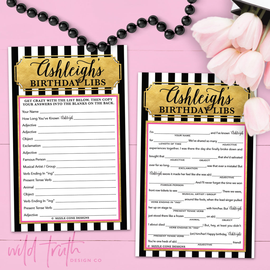kate spade themed birthday party games