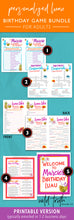 luau themed birthday party games printable
