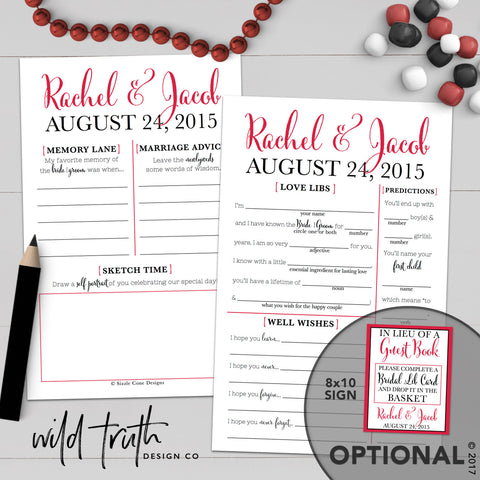 Personalized Wedding Guest Libs