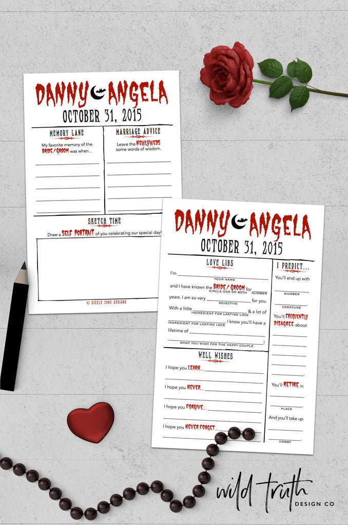 Halloween Wedding Guest Book Idea