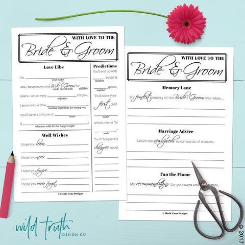 Printable Wedding Guest Libs Download