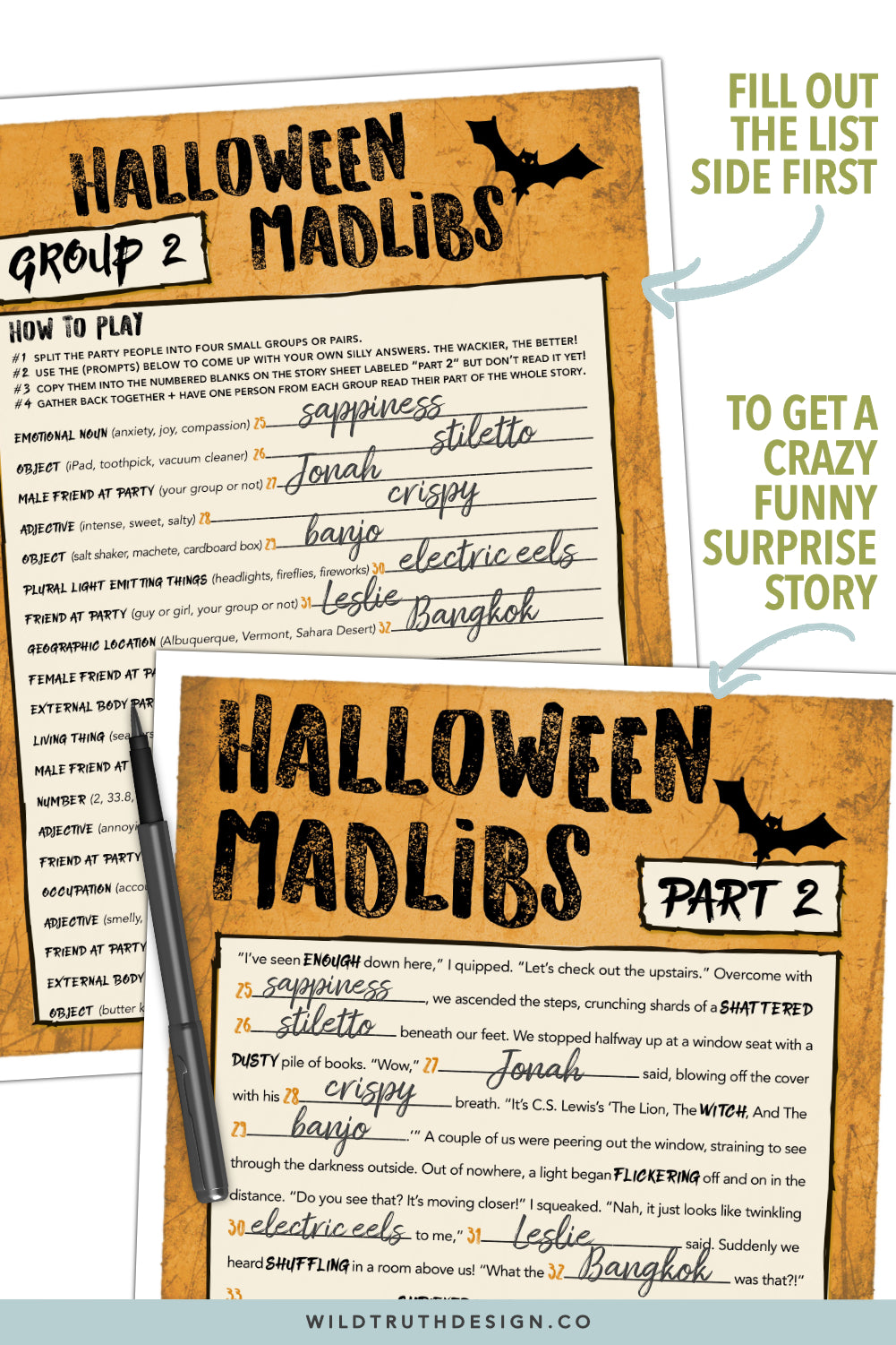 printable halloween mad libs for adults