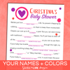 Baby Shower Mad Libs | Sizzle Cone Designs