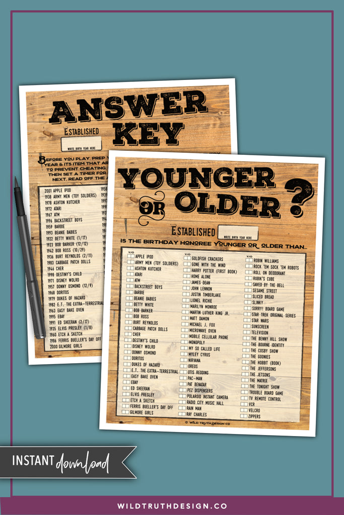 photo relating to Free Printable Birthday Party Games Adults titled Birthday Get together Online games For Grownups #103 - Wild Reality Style and design Co