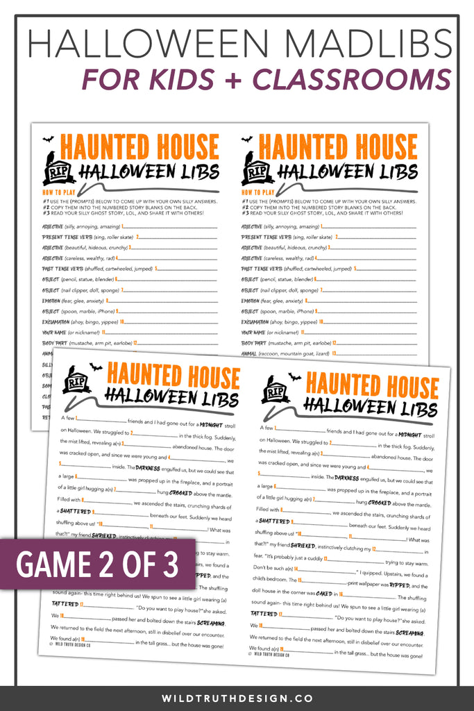 picture regarding Mad Libs Printable Middle School identify Halloween College or university Social gathering Online games - Ridiculous Libs Crosswords Printables - Homeschool Functions - Down load [#H103] - Wild Truth of the matter Structure Co