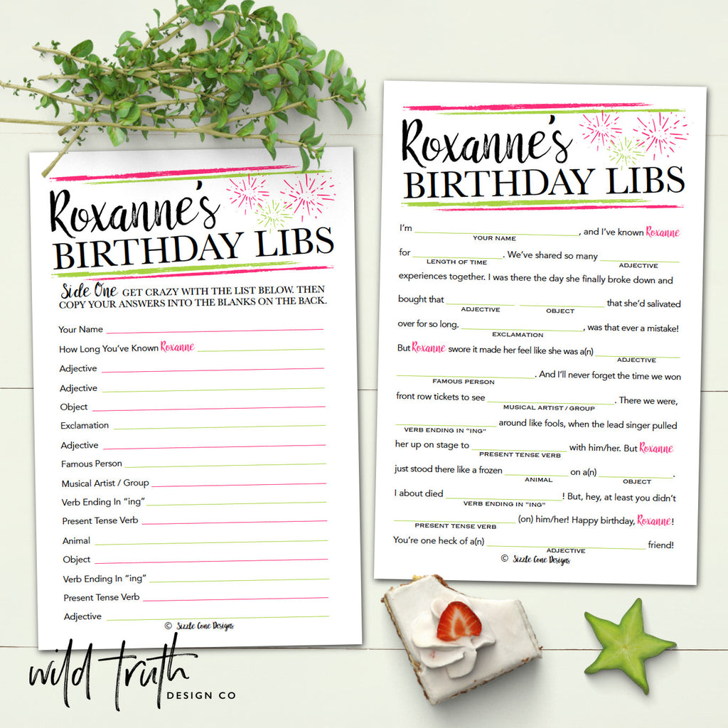 birthday mad lib for adults personalized party game printable