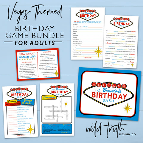 Vegas Themed Birthday Party Games