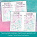 Double Sided Mad Libs - Watercolor Baby Shower | Sizzle Cone Designs