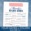 Baby Shower Madlibs - Washi Tape | Sizzle Cone Designs
