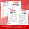 Two Sided Madlibs - Baby Shower | Sizzle Cone Designs