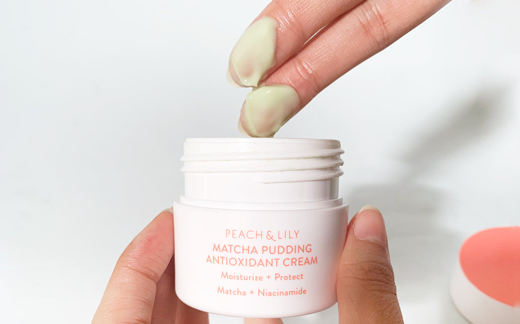 matcha pudding antioxidant cream, antioxidants