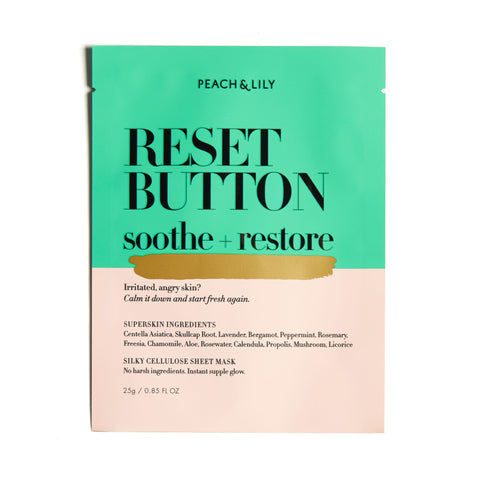 Peach & Lily Reset Button Soothe + Restore Mask