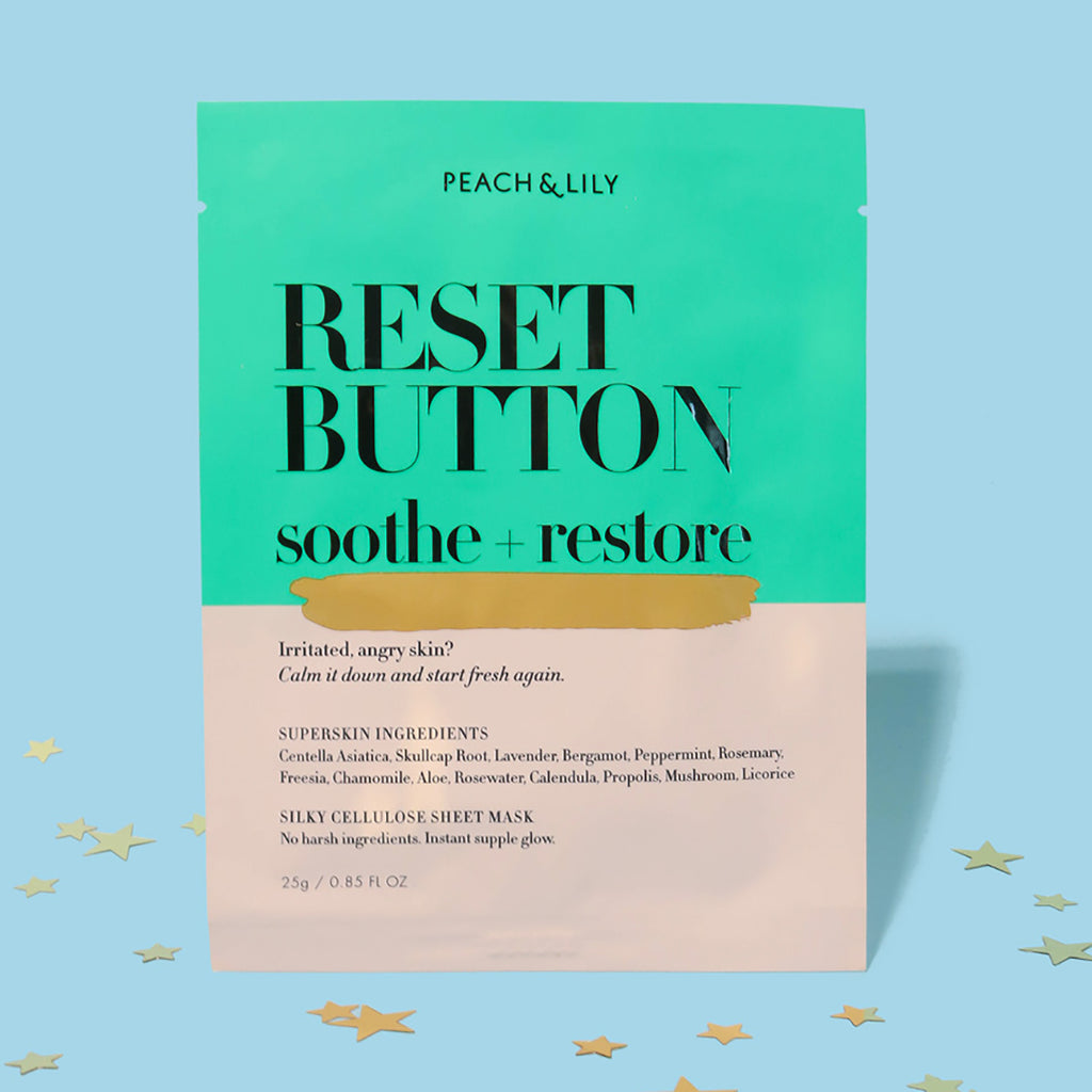 Reset Button Sheet Mask