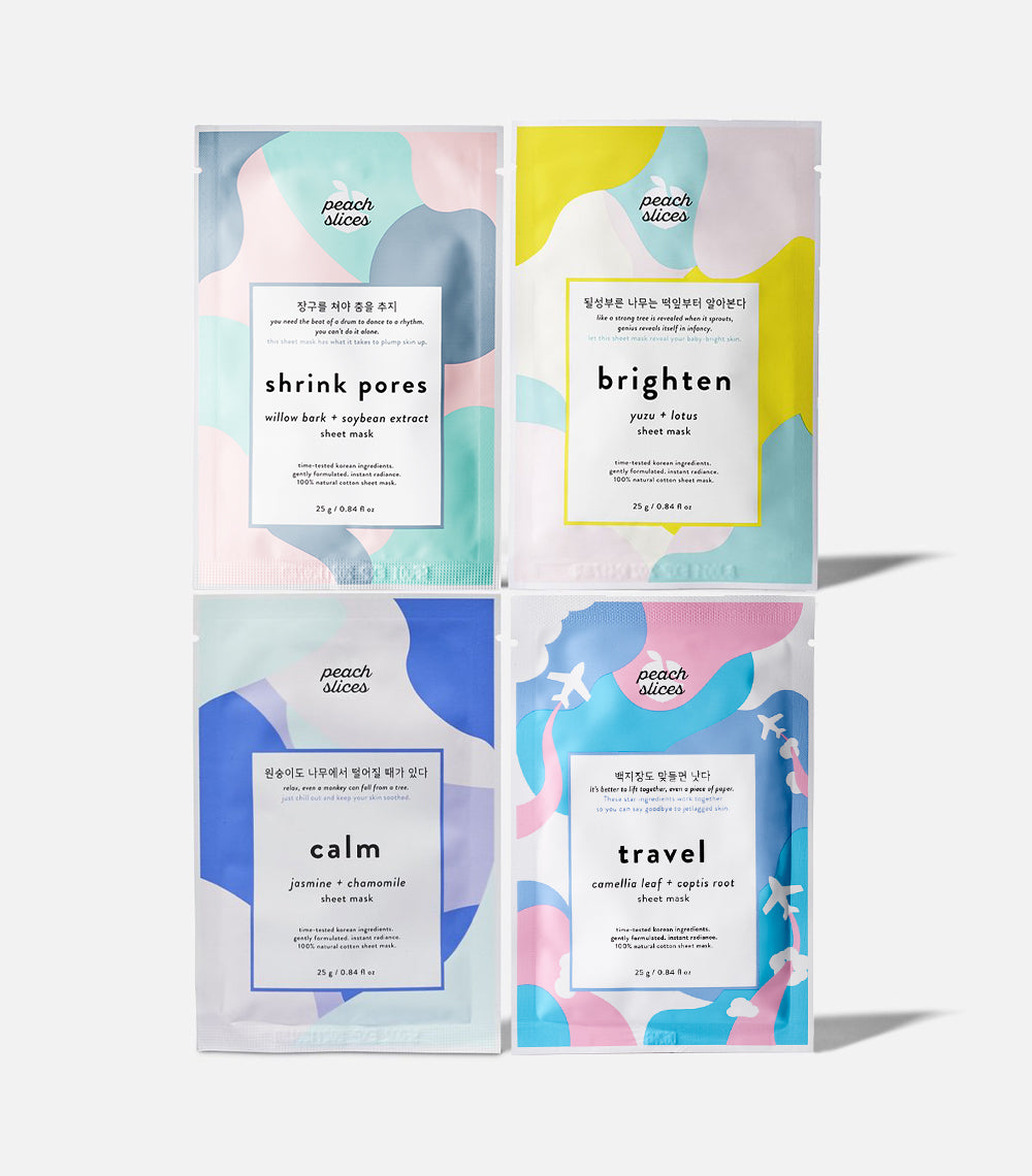 Sheet Mask Bundle: Peach Slices