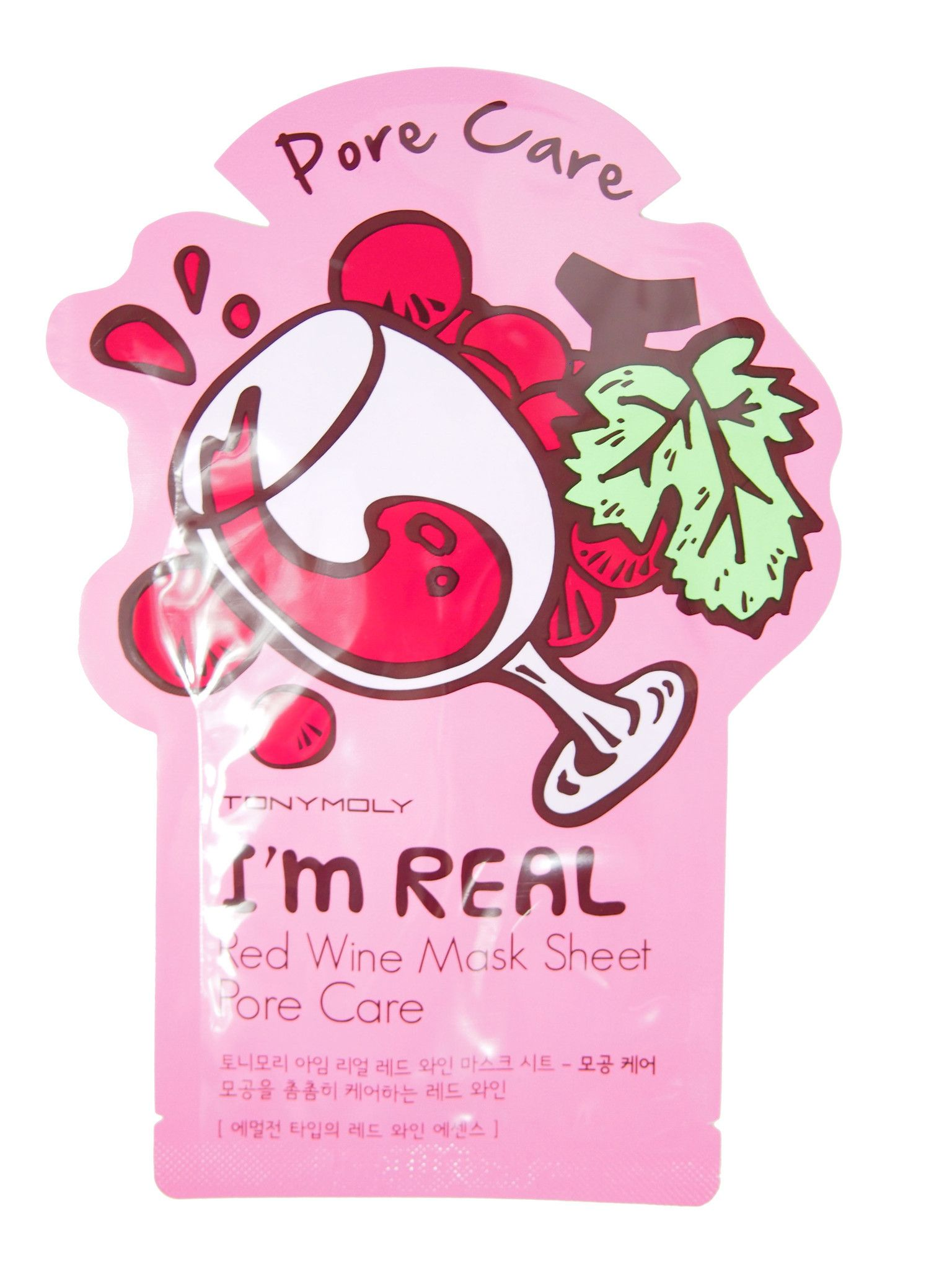 Tony Moly: I'm Real Red Wine Mask Sheet - Pore Care