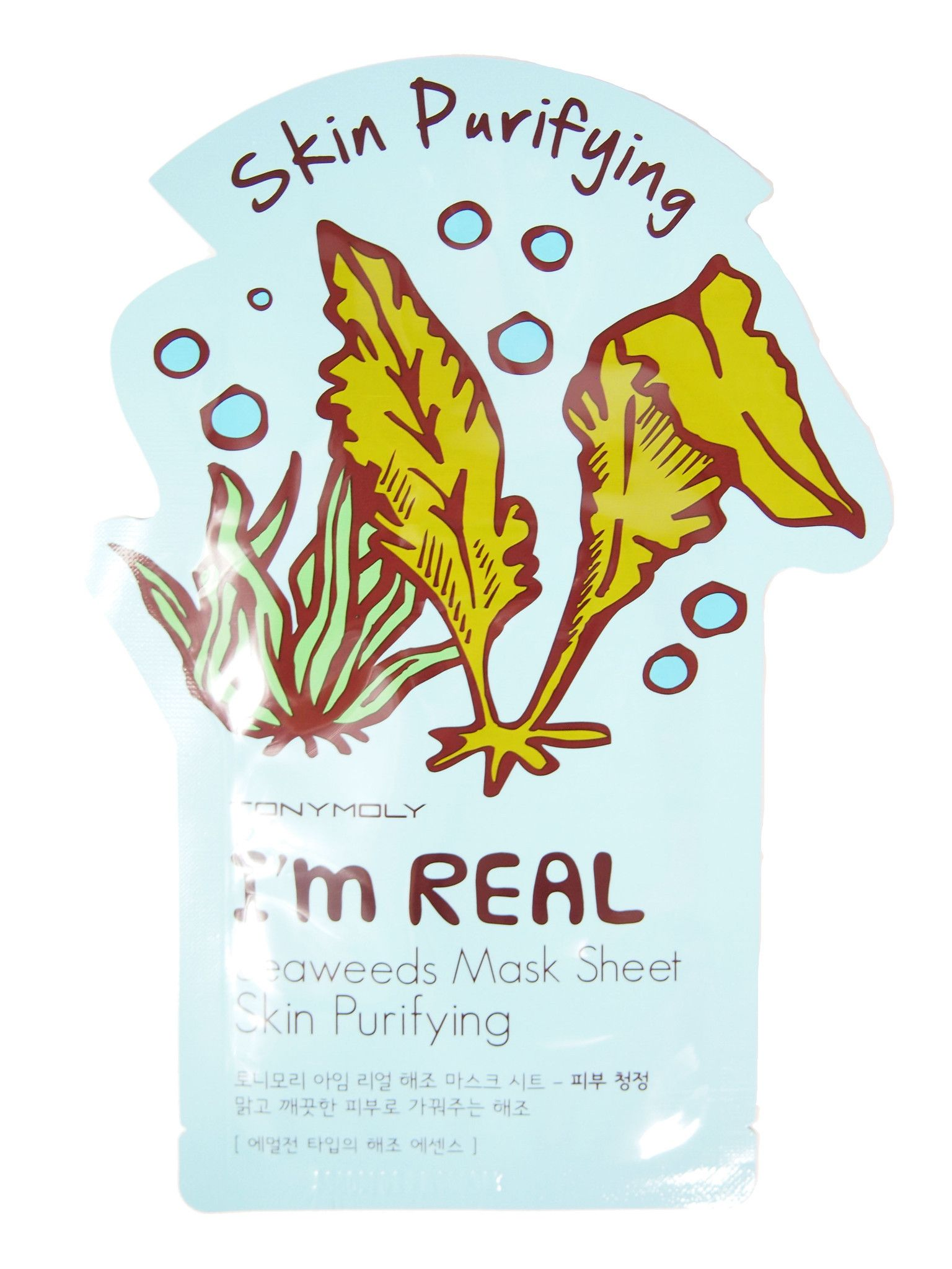 Tony Moly: I'm Real Seaweed Mask Sheet - Skin Purifying