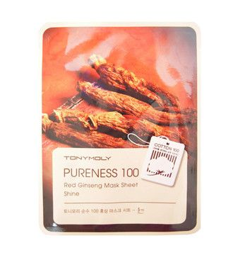 Tony Moly: Pureness 100 Red Ginseng Mask Sheet - Shine