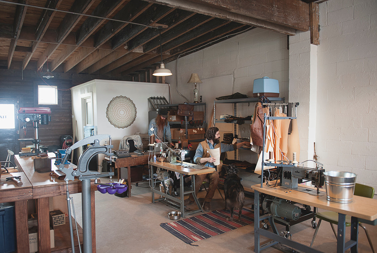 red clouds collective, portland, handmade, workshop, workspace, diy, made in the usa, waxed canvas, veg tan leather, handcrafted, vintage, fashion, menswear