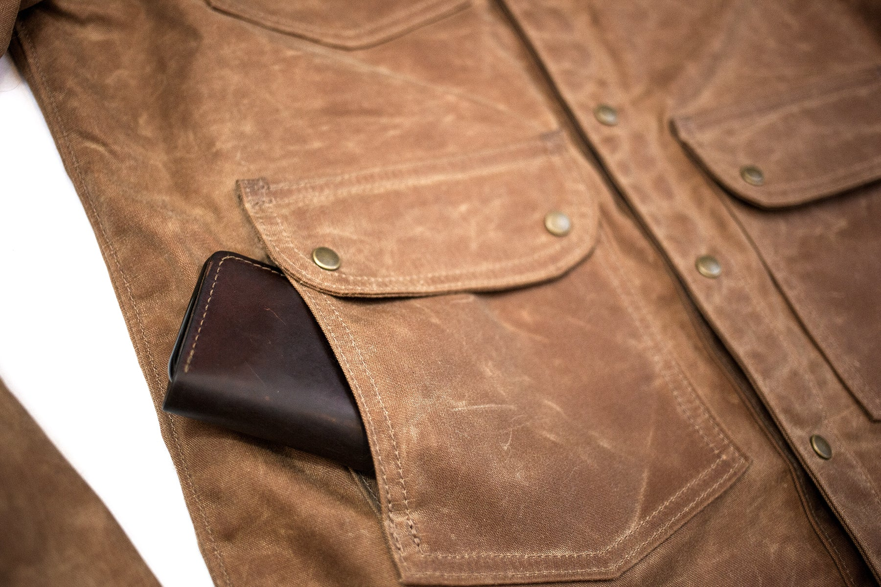 Great Northern Waxed Canvas Jacket - Brush Brown