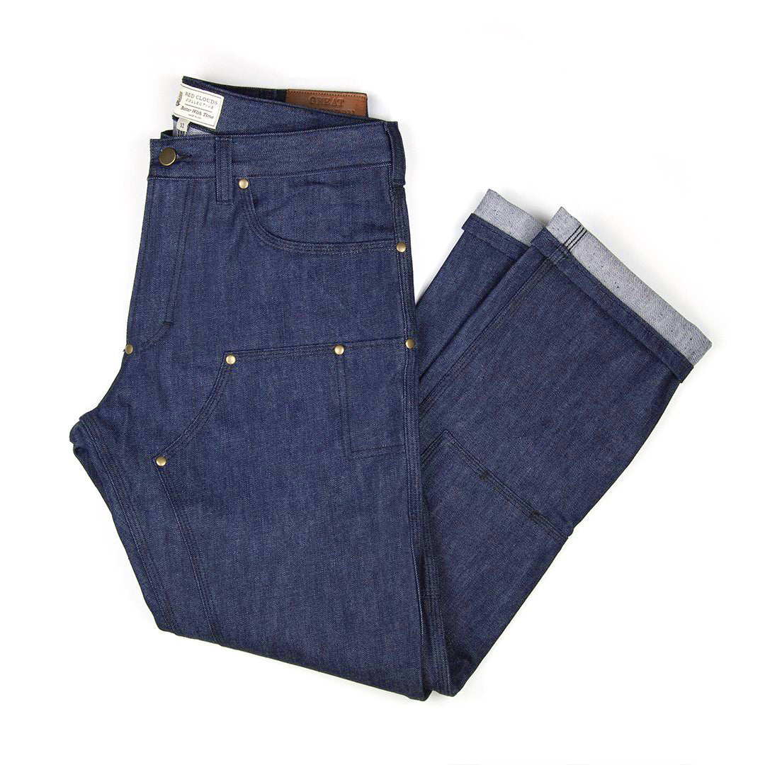 GN.01 Fitted Work Pant - Fire Resistant Blue Denim