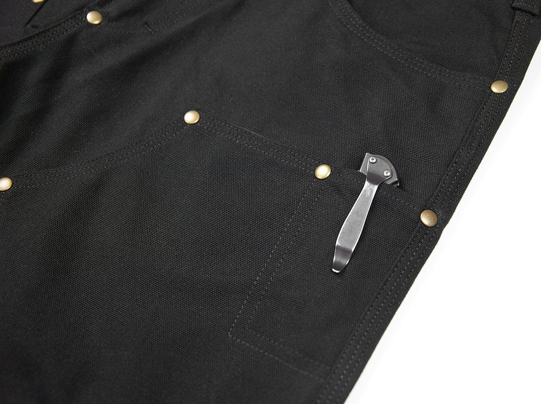 GN.01 Fitted Work Pant - Fire Resistant Black Canvas
