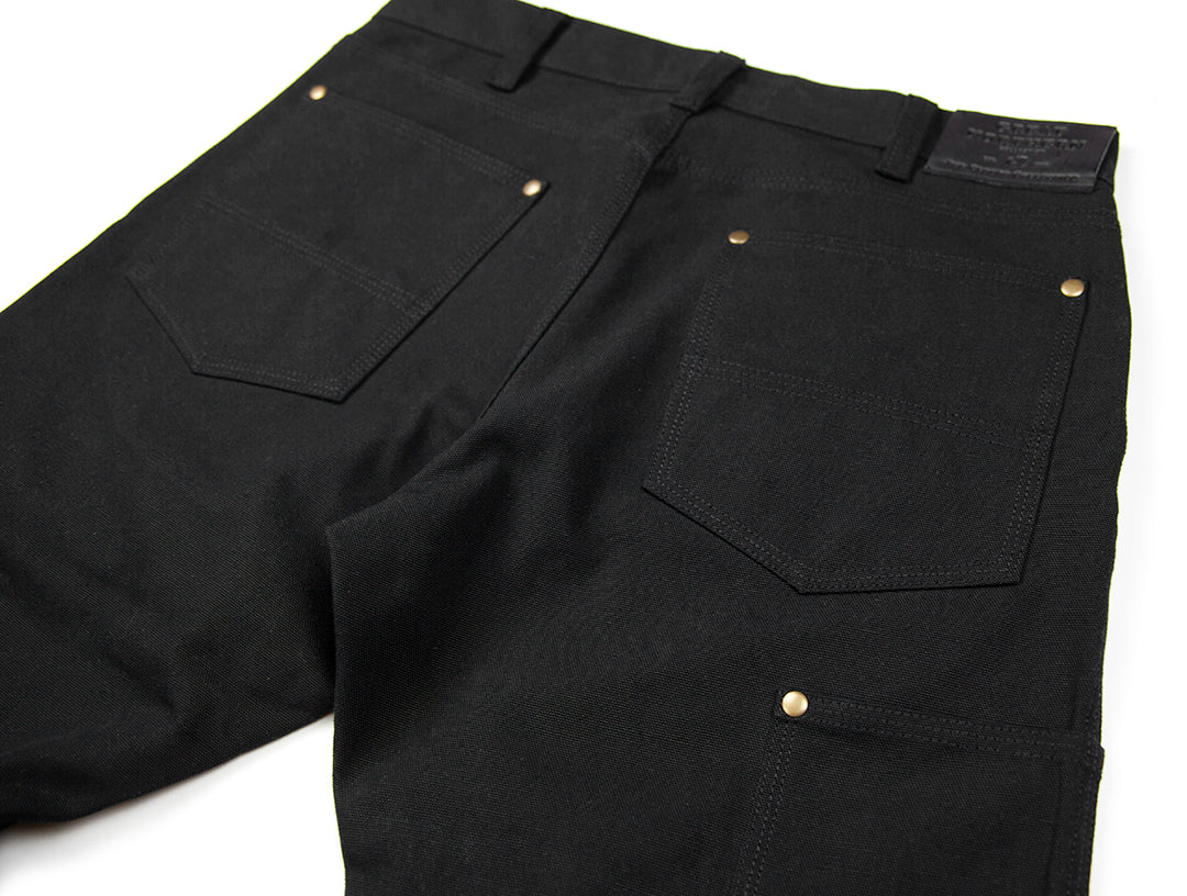 GN.01 Fitted Work Pant - 12oz Black Canvas
