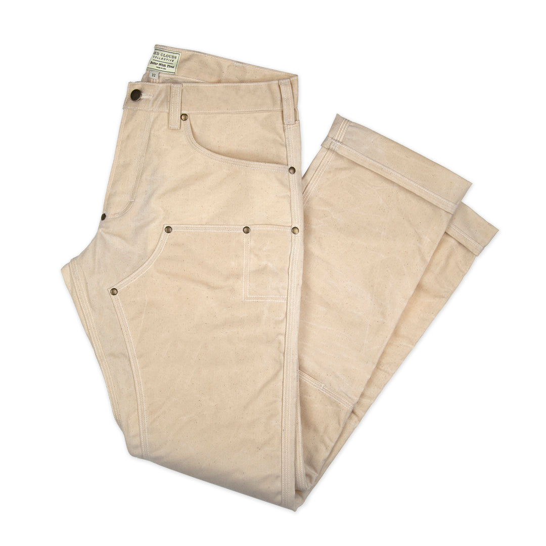 GN.01 Waxed Canvas Fitted Work Pant - Natural