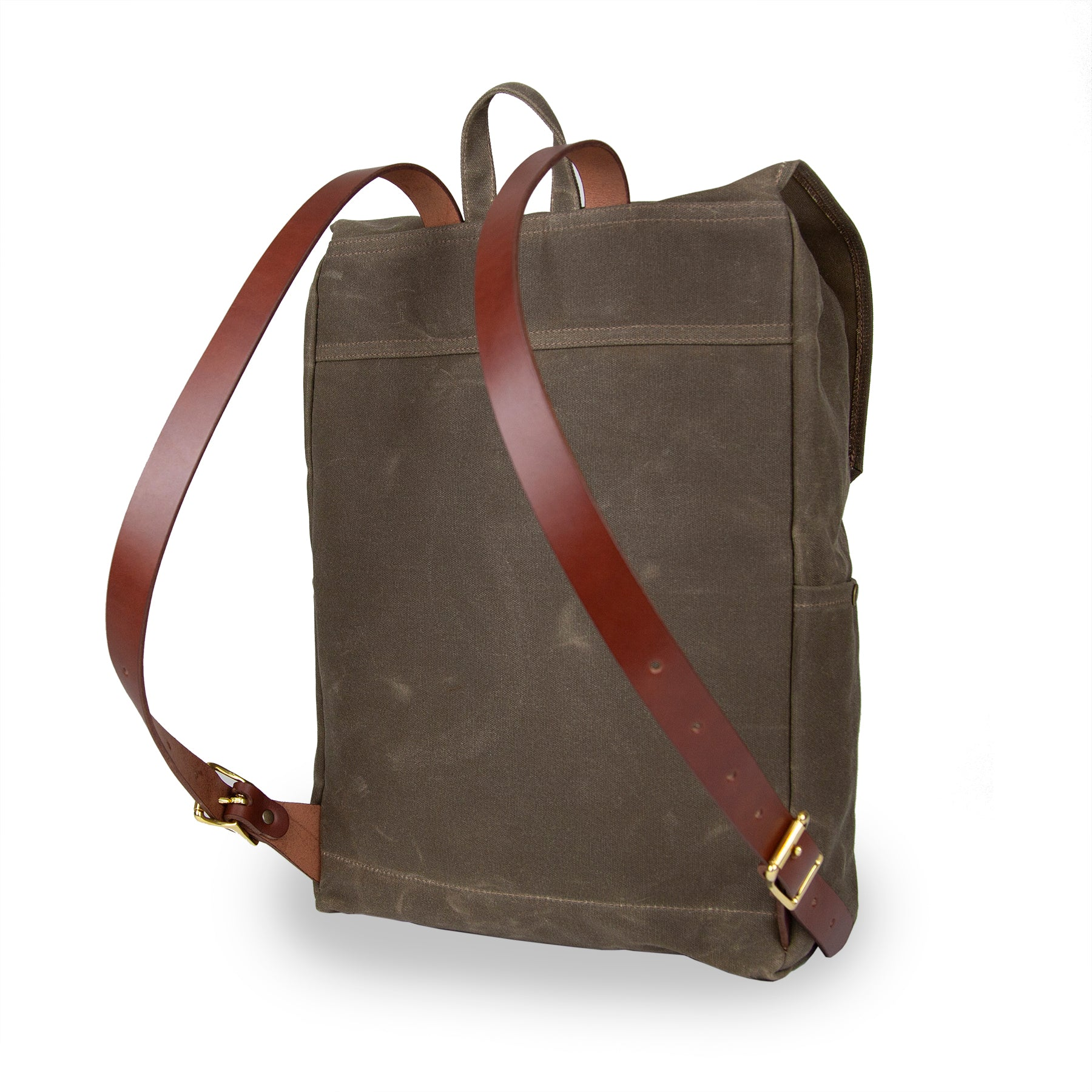 Day Tripper Backpack - Field Tan with Brown Leather