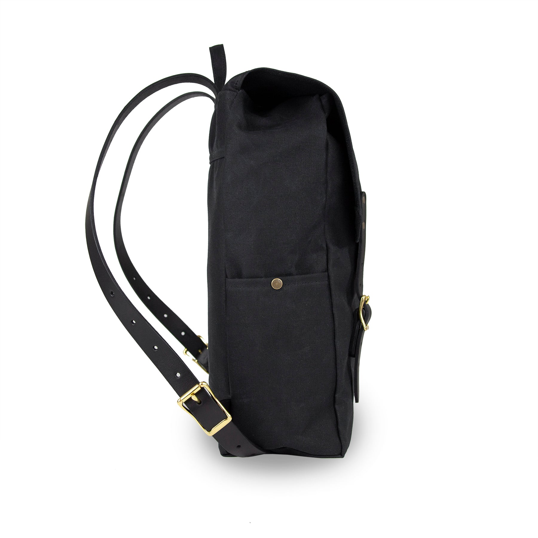 Day Tripper Backpack - Black with Black Leather