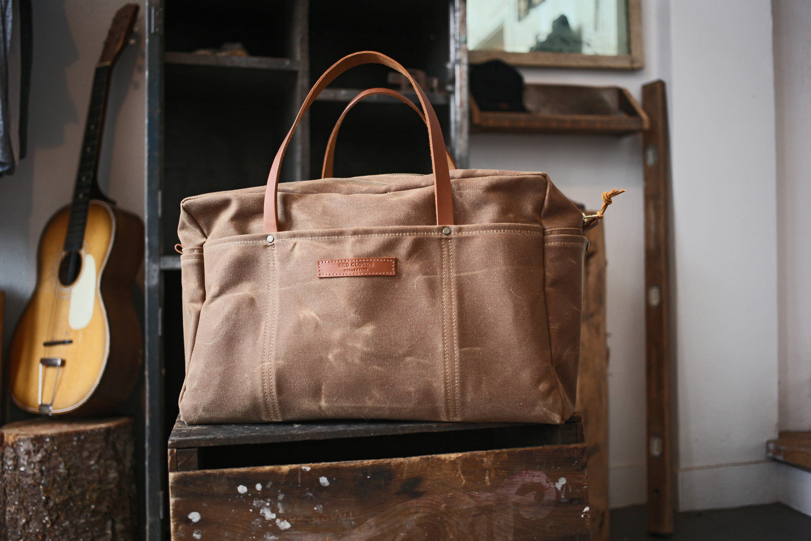 Waxed Canvas Duffle Bag - Brush Brown