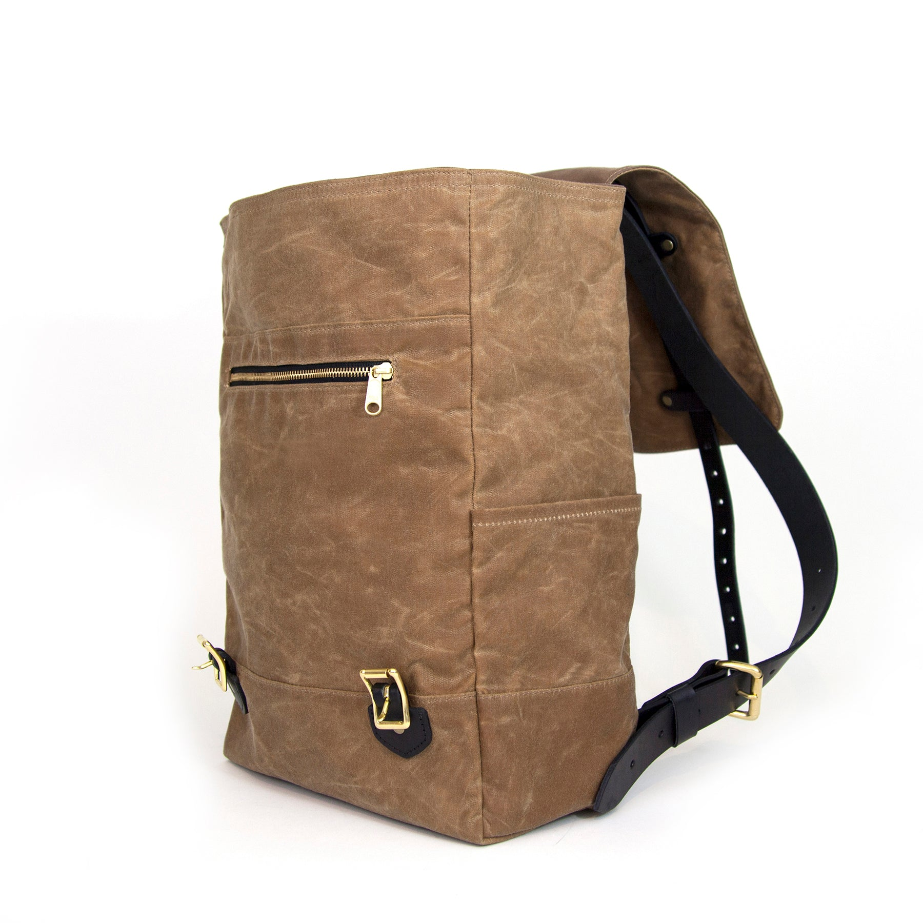 The Catamount Backpack - Brush Brown / Black