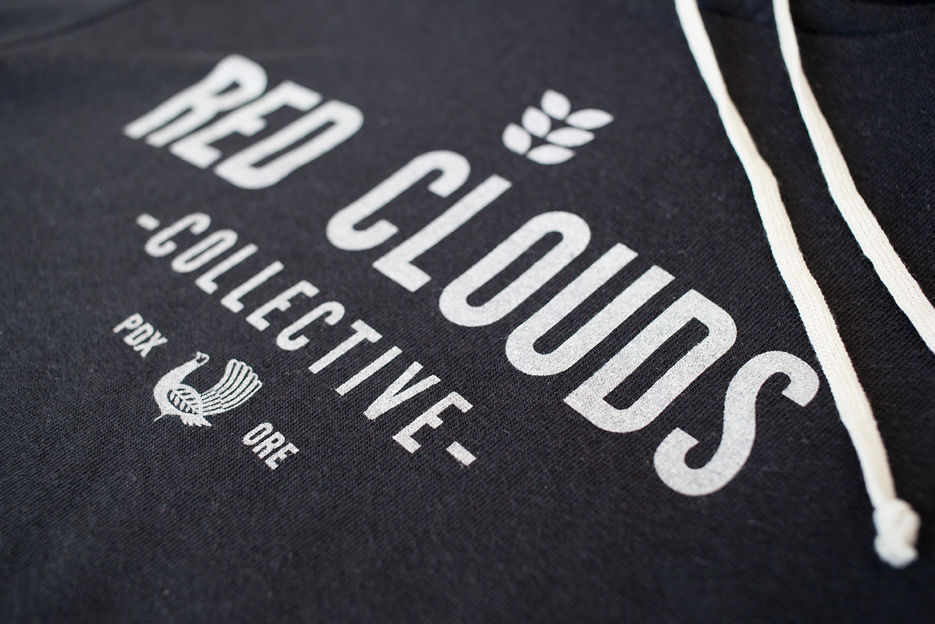 Red Clouds Hoodie - Black