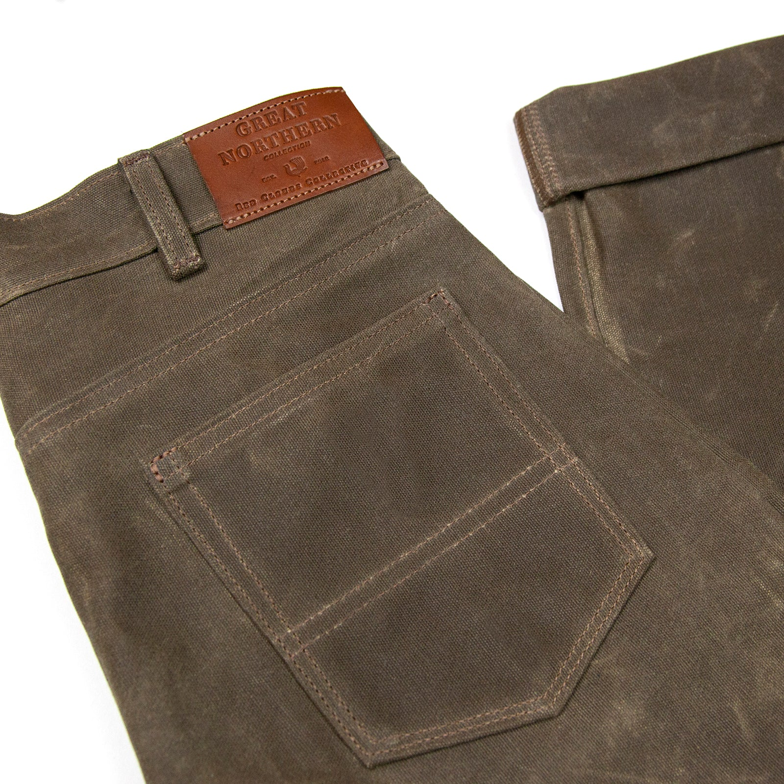 20 oz Waxed Canvas Pants - Havana