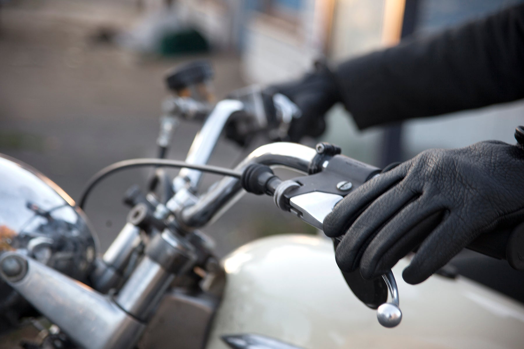 Kevlar gloves, moto gloves, leather glove, kevlar moto glove, kevlar lined gloves, black gloves, made in usa, red clouds gloves