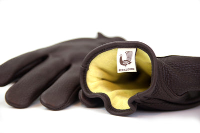 Kevlar Lined Leather Gloves - Brown