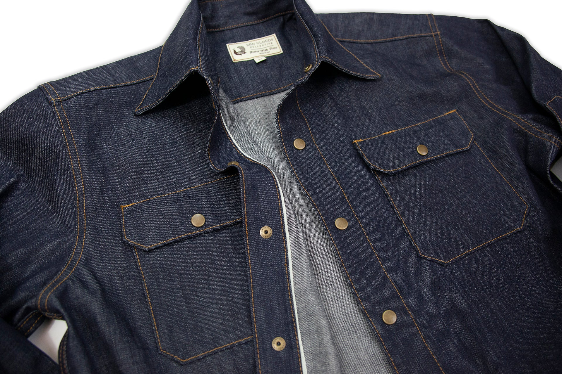 cfff8f79543 Witham Work Shirt - Cone Mills Selvage Denim - Red Clouds Collective ...