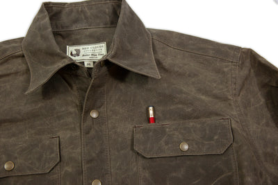 waxed canvas work shirt, work shirt, made in usa, durable shirt, heavy duty shirt, made to last, made in portland, quality clothing, durable work shirt, waxed canvas, moto, witham work shirt
