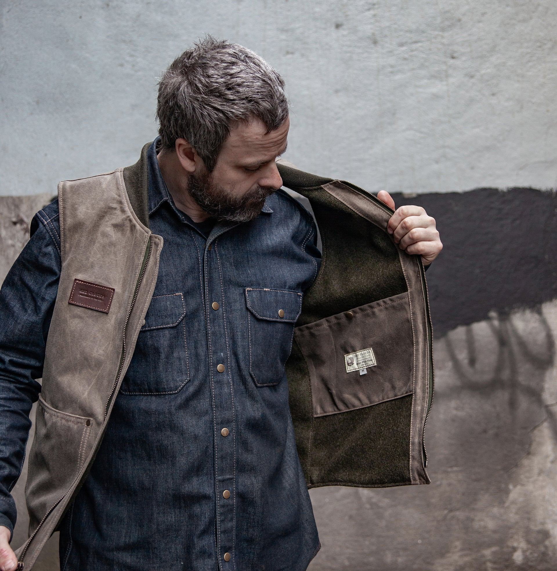 Hawthorne Vest - Havana Waxed Canvas