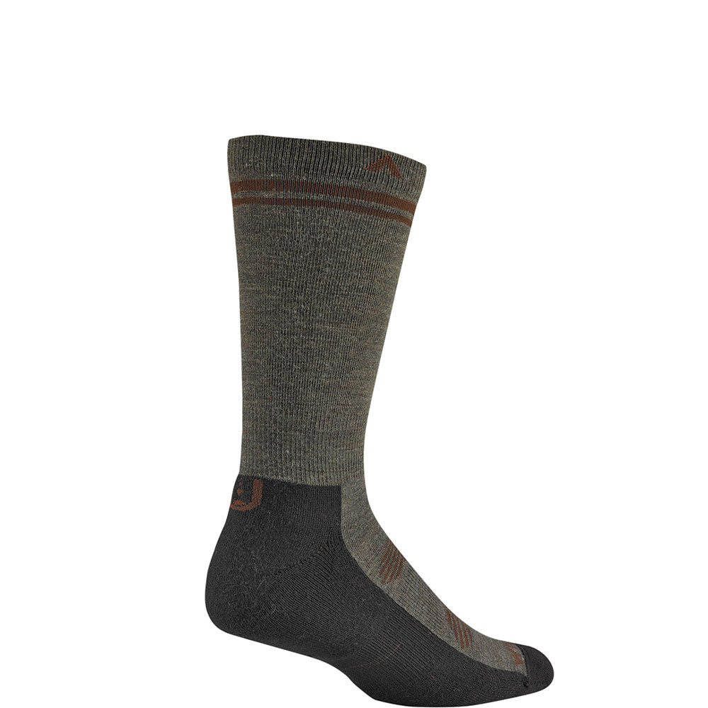 Wigwam - Merino Wilderness Lite Crew Socks - Olive Green Heather
