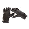 leather glove, black leather glove, made in usa glove, motorcycle glove, driving glove, best leather glove, red clouds glove