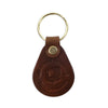 leather keychain, red clouds keychain, round keychain