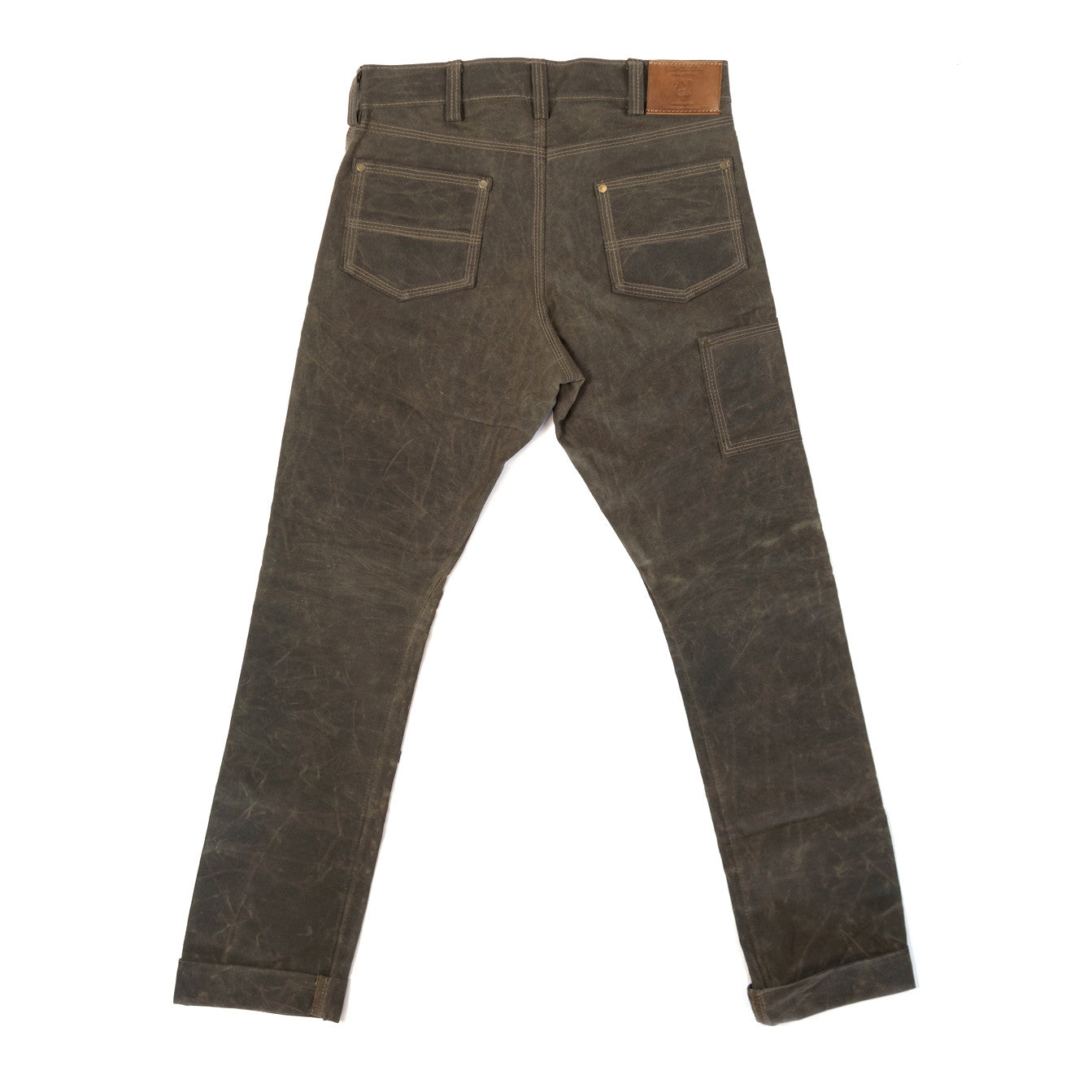 Gn 01 Waxed Canvas Fitted Work Pant Havana Red Clouds
